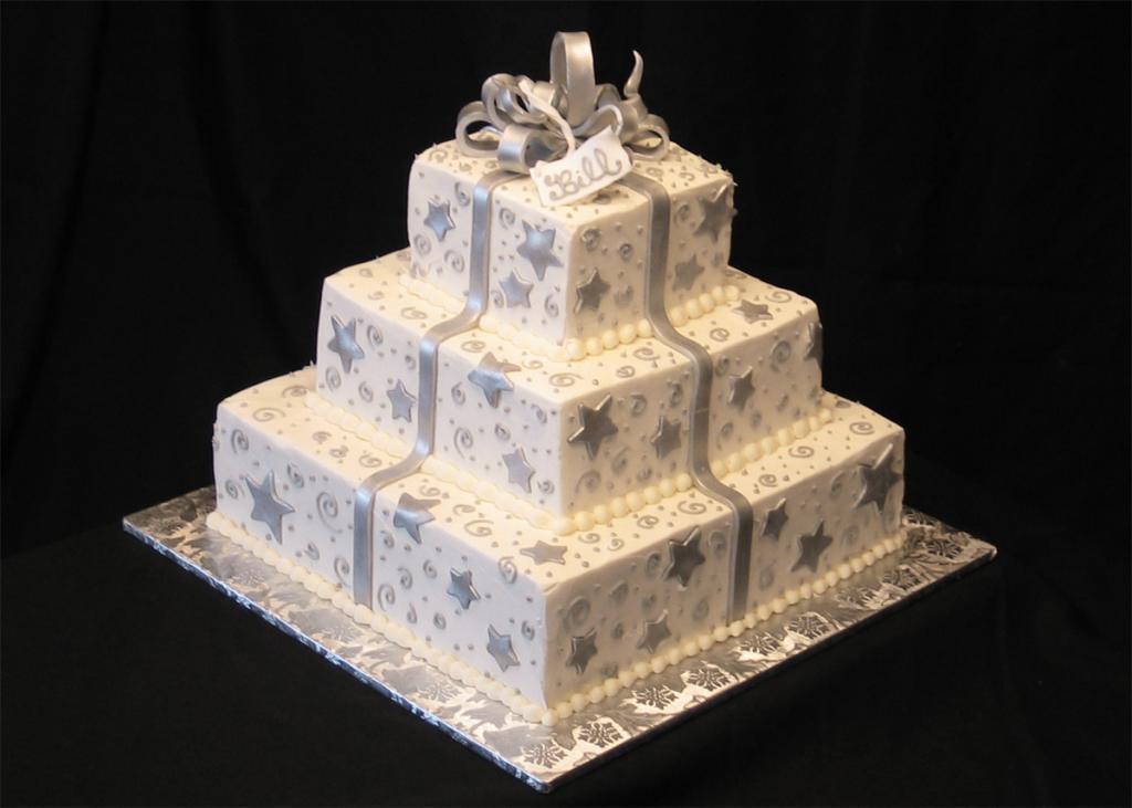 Gift box wedding cakes artistic desserts gift box wedding cakes negle Images