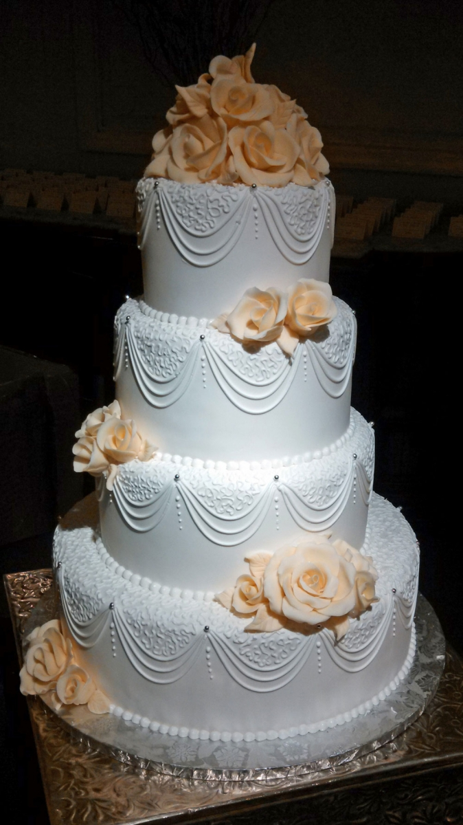 White Chocolate Wedding Cake Designs